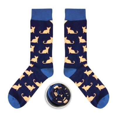 Skarpetki w koty, Cup of Sox (Granatowo-Łososiowe)