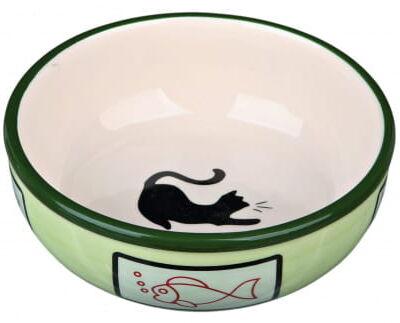Miseczka ceramiczna z kotkiem 350ml, zielona
