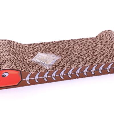 Drapak kartonowy Ryba, 44 cm