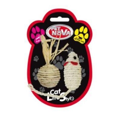 Zestaw myszka i piłeczka z sizalu
