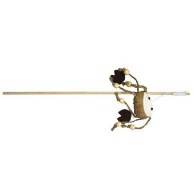 Drewniana wędka z krabem, 40cm