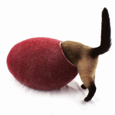 Wełniane legowisko dla kota, kokon Kivikis, Burgund
