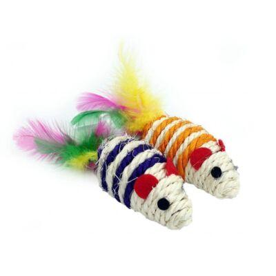 Zestaw dwóch kolorowych myszek z sizalu