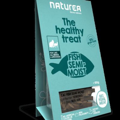 Bezzbożowe przysmaki dla kota Naturea, 100g (Ryba)