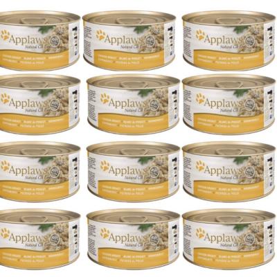 Applaws Natural - Pierś kurczaka w wywarze 12x70g pakiet