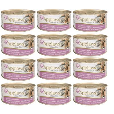 Applaws Natural - Makrela z Sardynką w wywarze 12x70g pakiet