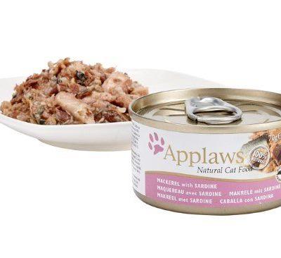 Applaws Natural - Makrela z Sardynką w wywarze 6x70g pakiet