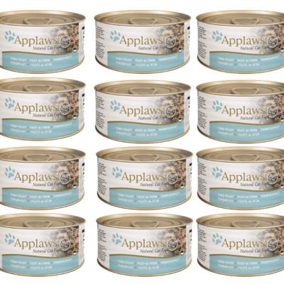 Applaws Natural - Filet z tuńczyka w wywarze 12x70g pakiet