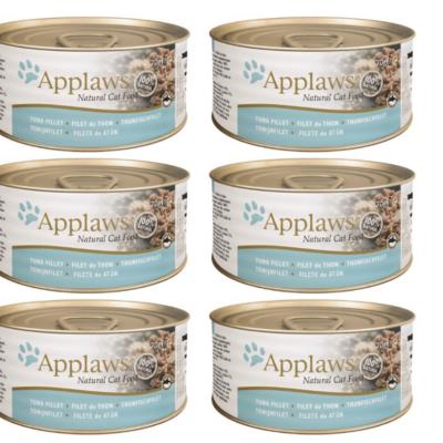 Applaws Natural - Filet z tuńczyka w wywarze 6x70g pakiet