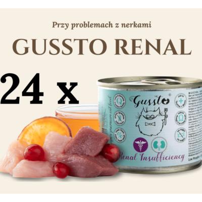 GUSSTO RENAL - przy problemach z nerkami 24x200g