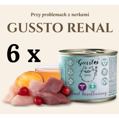 GUSSTO RENAL - przy problemach z nerkami 6x200g