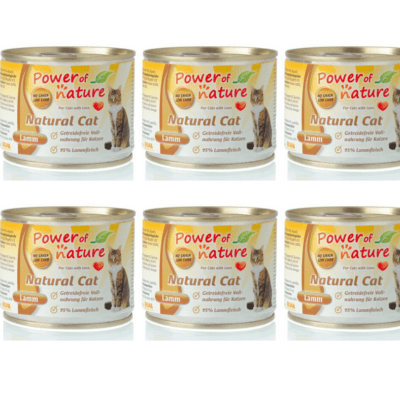 pakiet Power of Nature Natural Cat jagnięcina 6x200g