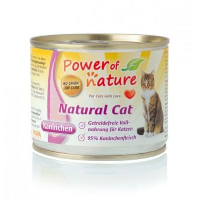 karma Power of Nature Natural Cat królik 200g Premium