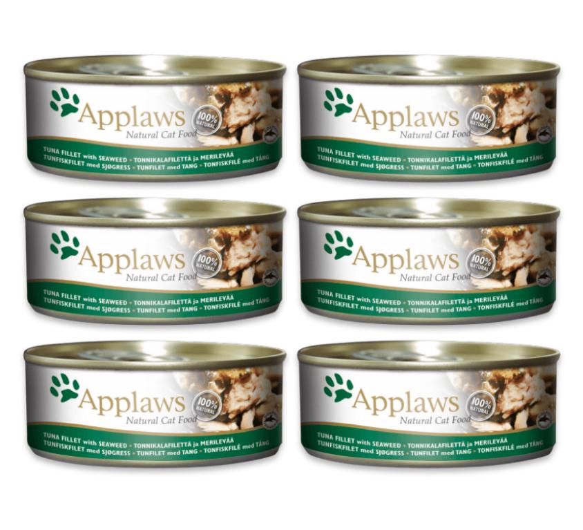 Applaws Natural – filet Tuńczyk z wodorostami 6x70g