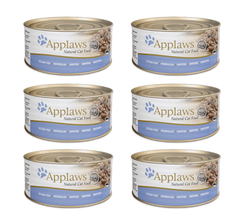 Applaws Natural – Ryby oceaniczne 6x70g pakiet